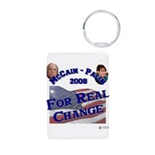 2-real change.png Aluminum Photo Keychain