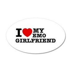 I love my EMO Girlfriend Wall Decal