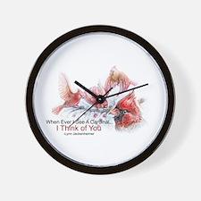Unique Red cardinal bird Wall Clock