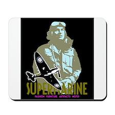 Aviation Classic Spitfire Pilot and plane Mousepad