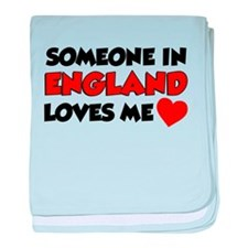 Someone In England Loves Me baby blanket