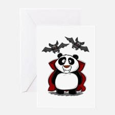 Vampire Panda Greeting Card