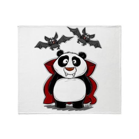 Vampire Panda Throw Blanket