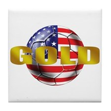 USA Soccer Gold Tile Coaster