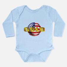 USA Soccer Gold Long Sleeve Infant Bodysuit