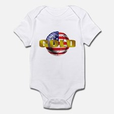 USA Soccer Gold Infant Bodysuit