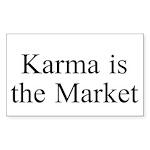 Karma is the Market TM Sticker (Rectangle)