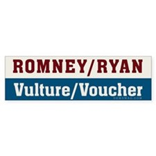 Romney/Ryan Vulture/Voucher Bumper Sticker