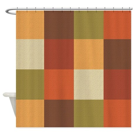Exceptional Rust Colored Shower Curtains Rust Colored Fabric Shower Curtain