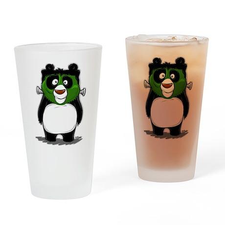 Frankenstein Panda Drinking Glass