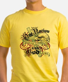 Cute One nation under god T