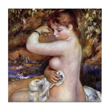 Renoir After The Bath Tile Coaster