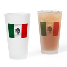 Mexican Soccer Flag Drinking Glass
