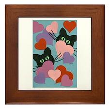 Kitty Love Framed Tile