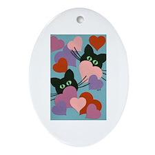 Kitty Love Ornament (Oval)