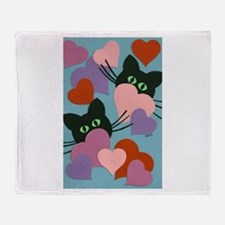 Kitty Love Throw Blanket