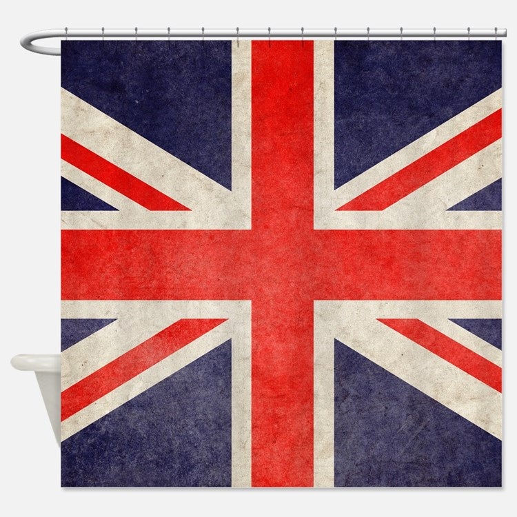 UK Faded Shower Curtain