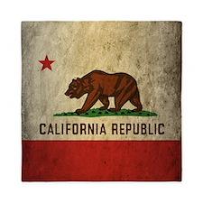 Grunge California Flag Queen Duvet