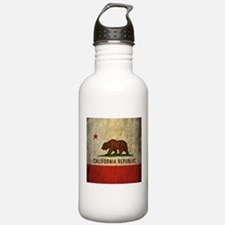 Grunge California Flag Water Bottle