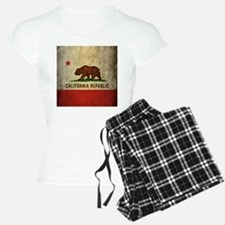 Grunge California Flag Pajamas