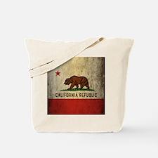 Grunge California Flag Tote Bag