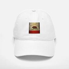 Grunge California Flag Baseball Baseball Cap