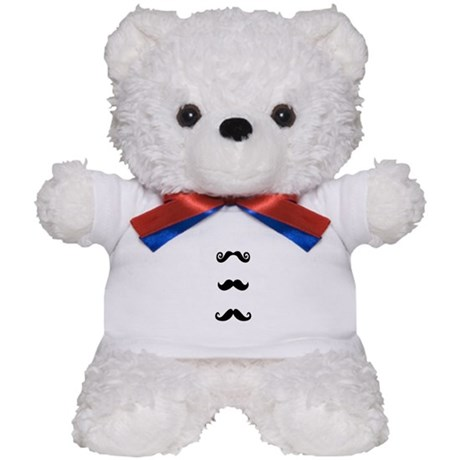 Mustache love Teddy Bear