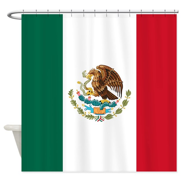 Mexican Flag Shower Curtain By Worldsoccerstore