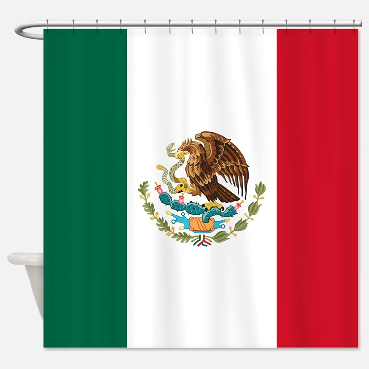 Mexican Flag Shower Curtain
