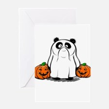 Panda Ghost Greeting Card