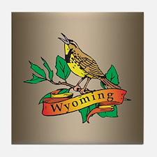 Wyoming Meadowlark Tile Coaster