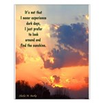 """16x20 Poster """"Find the Sunshine"""""""