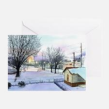 Backyard Ice rink Greeting Card