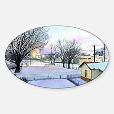 Backyard Ice rink Sticker (Oval)