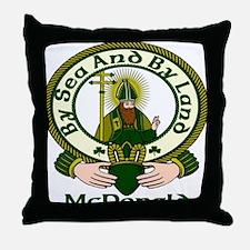 McDonald Clan Motto Throw Pillow