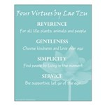 """16x20 Poster """"Four Virtues"""""""