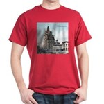 Grunge Wisconsin Flag Dark T-Shirt