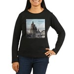 Grunge Wisconsin Flag Women's Long Sleeve Dark T-S