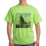 Grunge Wisconsin Flag Green T-Shirt