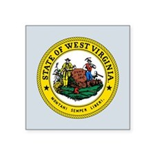 "West Virginia State Seal Square Sticker 3"" x 3"""