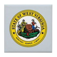 West Virginia State Seal Tile Coaster