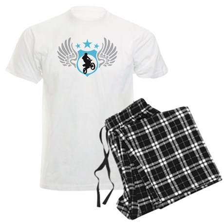 motorcycle jump fire wings Men's Light Pajamas