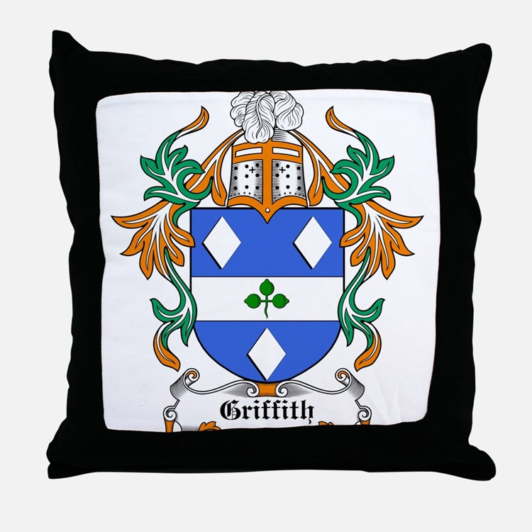 Griffith Coat of Arms, Family Throw Pillow