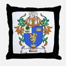 Greer Coat of Arms Throw Pillow