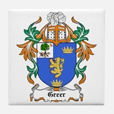 Greer Coat of Arms Tile Coaster