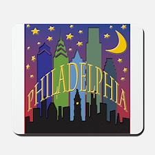Philly Skyline rainbow Mousepad