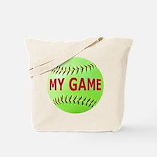 Softball My Game Tote Bag