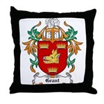 Grant Coat of Arms Throw Pillow