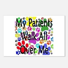 My Patients Walk All Over Me (Veterinary) Postcard