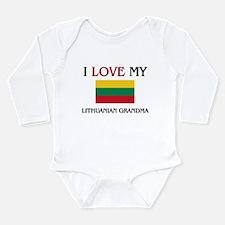 Unique Lithuanian map Long Sleeve Infant Bodysuit